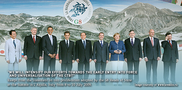 G8 to intensify efforts towards entry into force of the ...