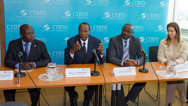 The President of Burkina Faso at the CTBTO: CTBTO ...