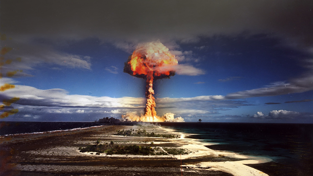The nuclear testing of france at moruroa